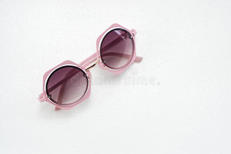 Sweet pink sunglasses for women royalty free stock photos