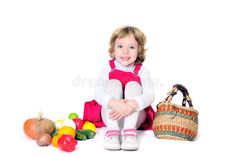 Sweet playing girl stock photo