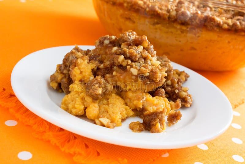 Download Sweet Potato Casserole stock photo. Image of orange, walnuts - 10822544
