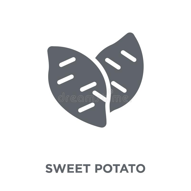 Sweet potato icon from Fruit and vegetables collection. royalty free illustration