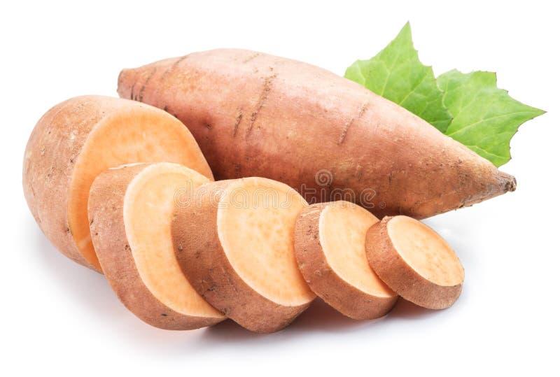 Sweet potato. Isolated on a white background.  stock photos