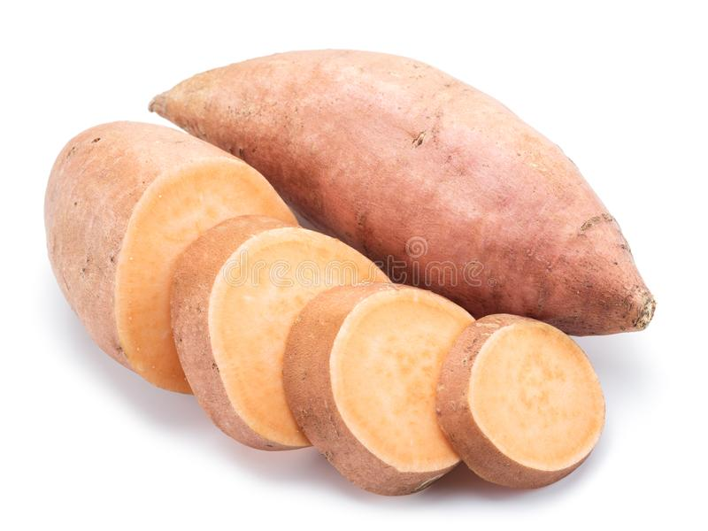 sweet potato pojedynczy białe tło obrazy royalty free
