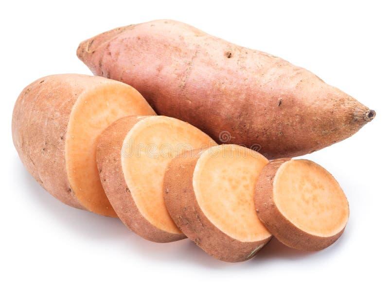 sweet potato pojedynczy białe tło zdjęcia royalty free