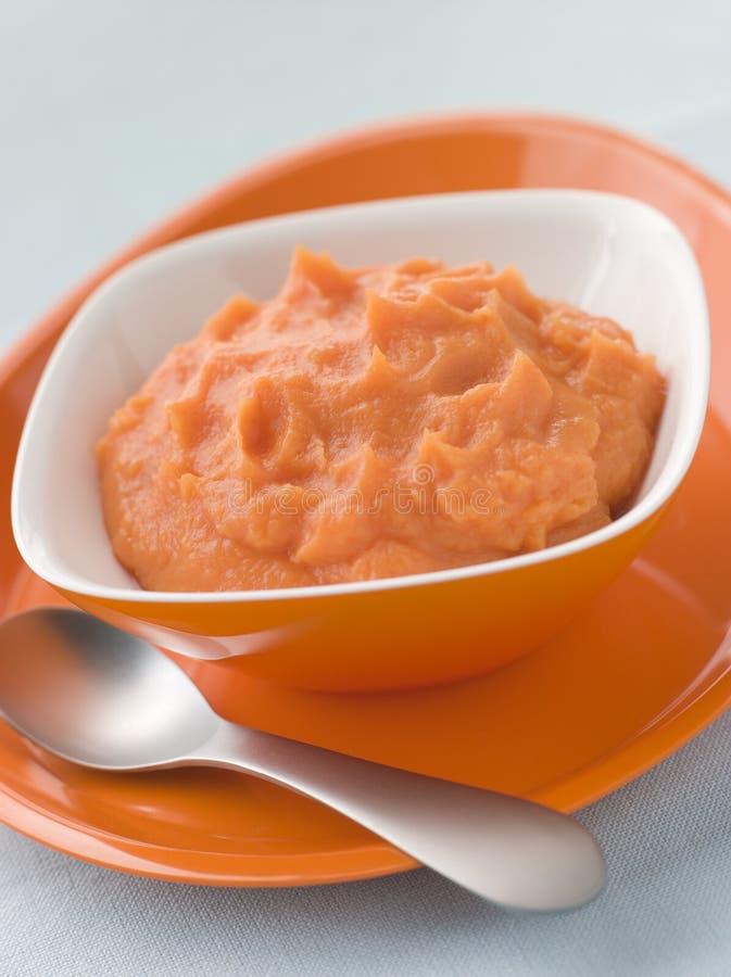Sweet Potato Puree stock images