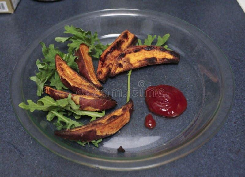 Sweet Potato Wedges stock photos
