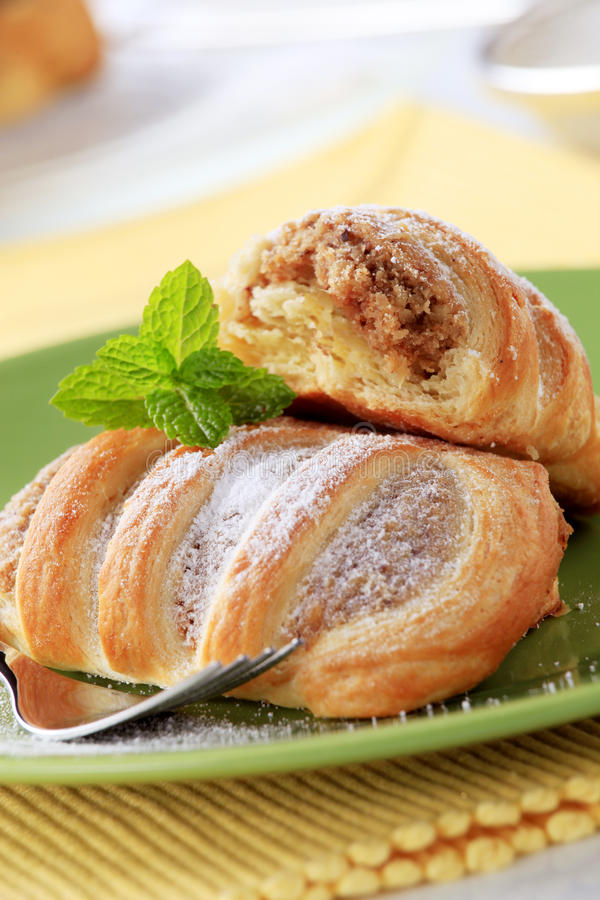 Sweet puff pastry royalty free stock photos