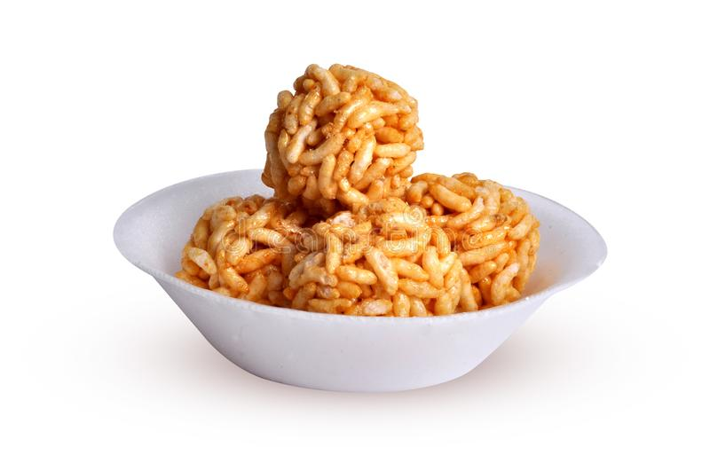 Sweet puffed rice stock photo
