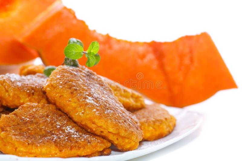 Download Sweet pumpkin pancakes stock photo. Image of healthy - 83704440
