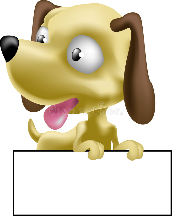Sweet puppy dog. A very cute dog or puppy with a board to write whatever you want on