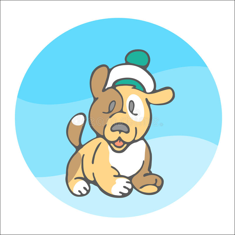 Sweet puppy sailor royalty free illustration