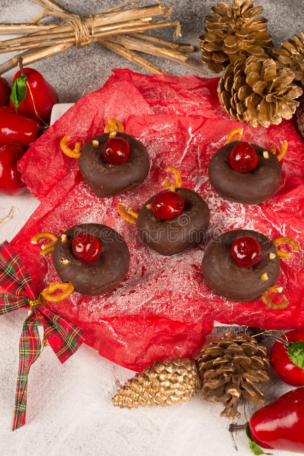 Sweet reindeers royalty free stock photography