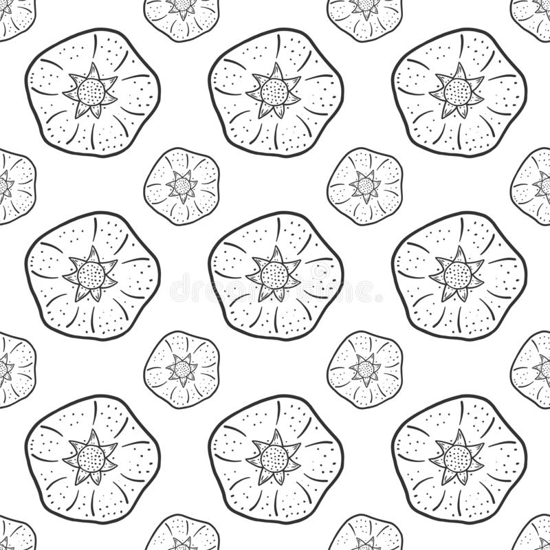 Sweet ripe pomegranate. Vector concept in doodle and sketch style. Hand drawn illustration for printing on T-shirts, postcards. Seamless pattern for textile vector illustration
