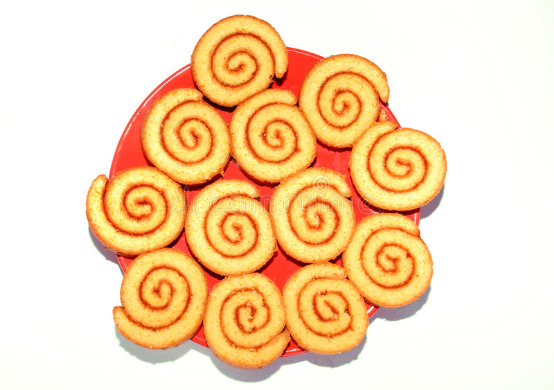 Sweet rolled cookies royalty free stock photo
