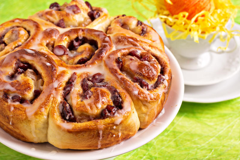 Download Sweet Rolls With Dried Fruits Stock Image - Image: 29021405