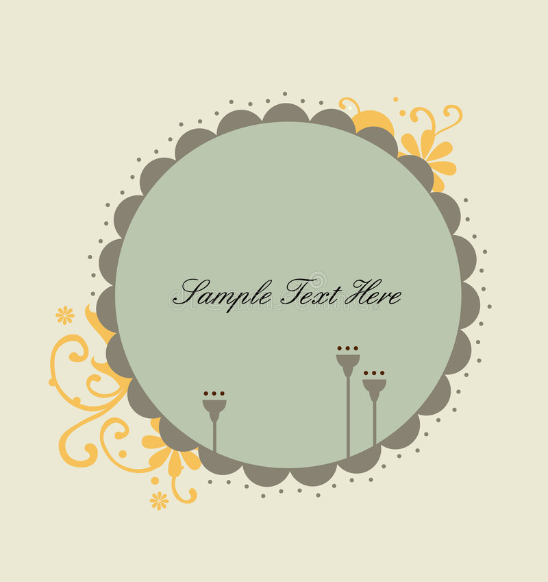 Sweet rounded frame royalty free stock images