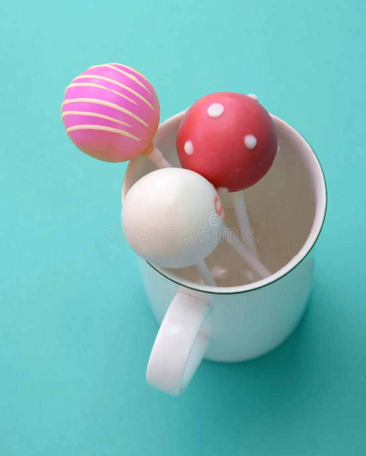 Sweet sake ball stick in cup.  stock photography