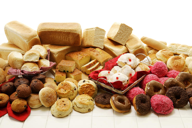 Sweet And Savoury Baked Goods stock photography