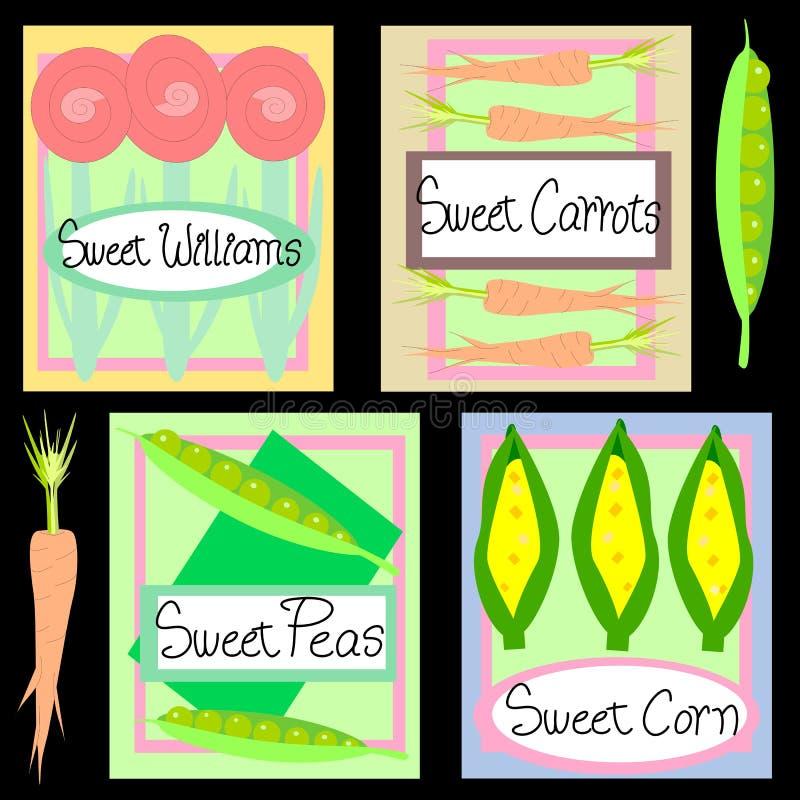Download Sweet Seeds stock vector. Image of flower, ears, corn - 24462529