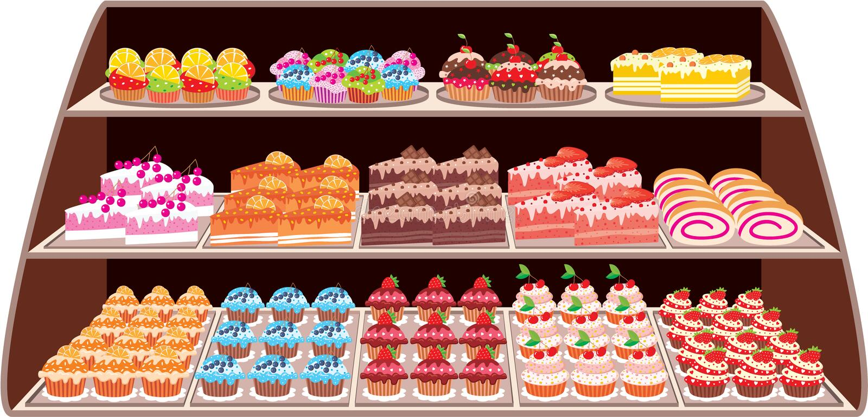 Sweet shop royalty free illustration