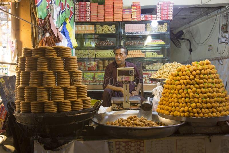 Sweet Shop in Street Near Data darbar Lahore Pakistan. The Sweet Shop in Street Near Data Darbar Lahore Pakistan.n royalty free stock images