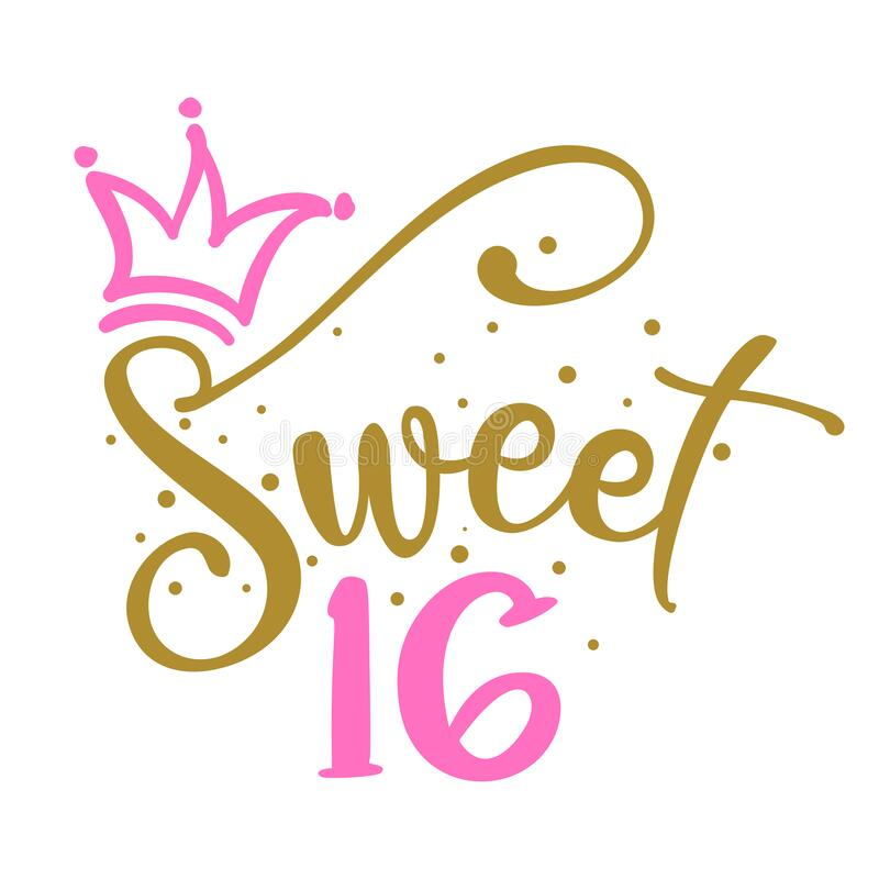 Free Sweet Sixteen 16th Birthday Teenage Girl Year Anniversary Stock Photography - 194569862