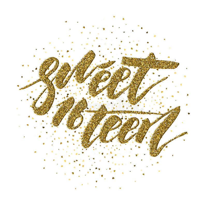 Sweet Sixteen - lettering design stock photo