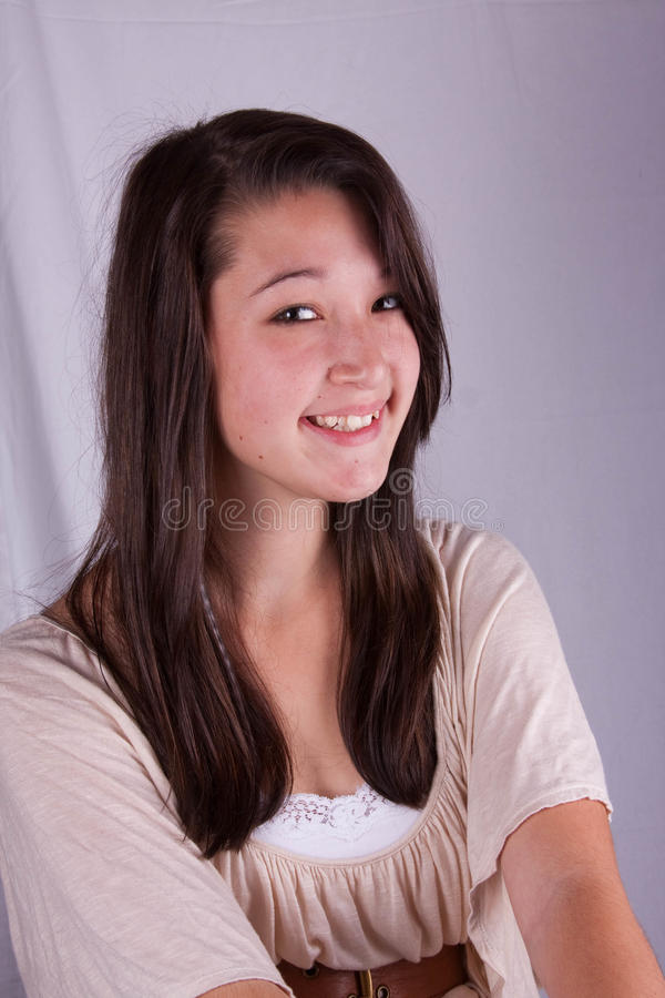 Sweet smiling teen