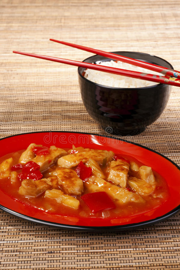 Download Sweet and sour chicken stock photo. Image of pepper, melamine - 24840008