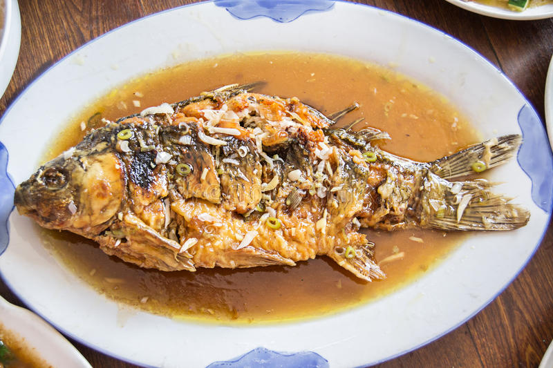 Sweet and sour fish. Is a famous Chinese dishes royalty free stock image