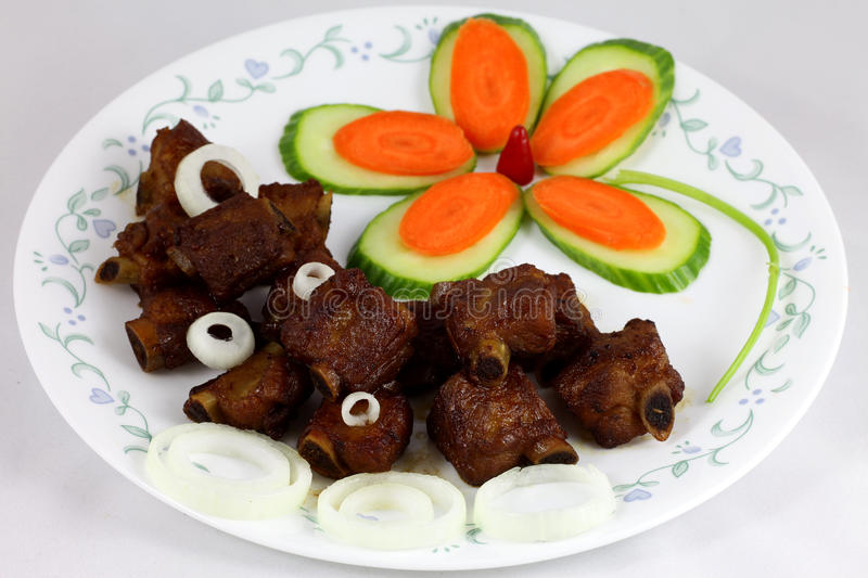 Sweet and sour ribs stock photography
