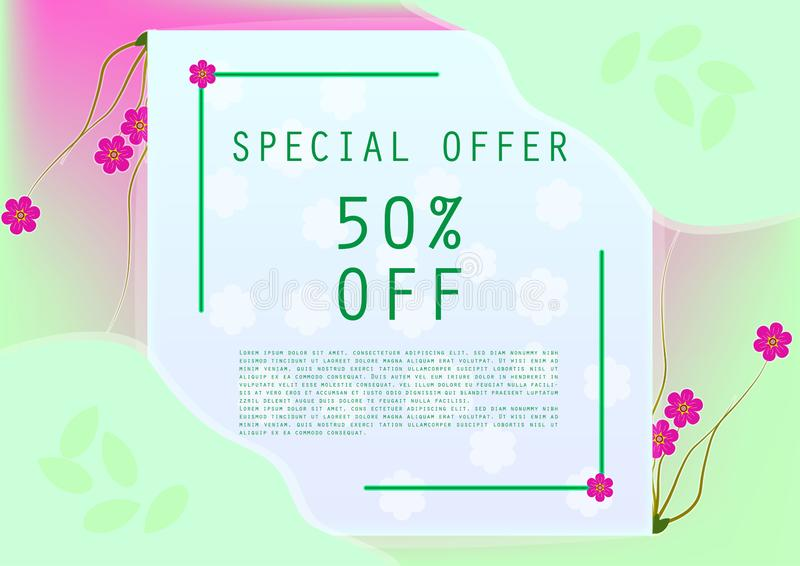 Sweet special offer discount banner stock photography