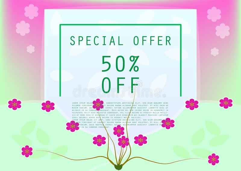 Sweet special offer discount for banner and poster stock photo
