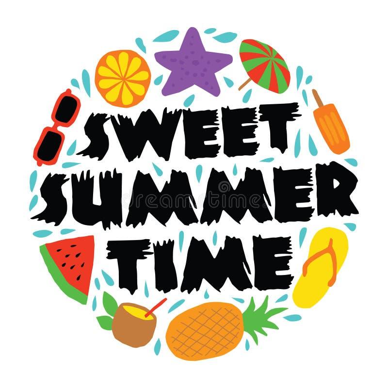 Sweet Summer Time, 100% vector. Best for print design like t-shirt, mug, frame and other royalty free illustration