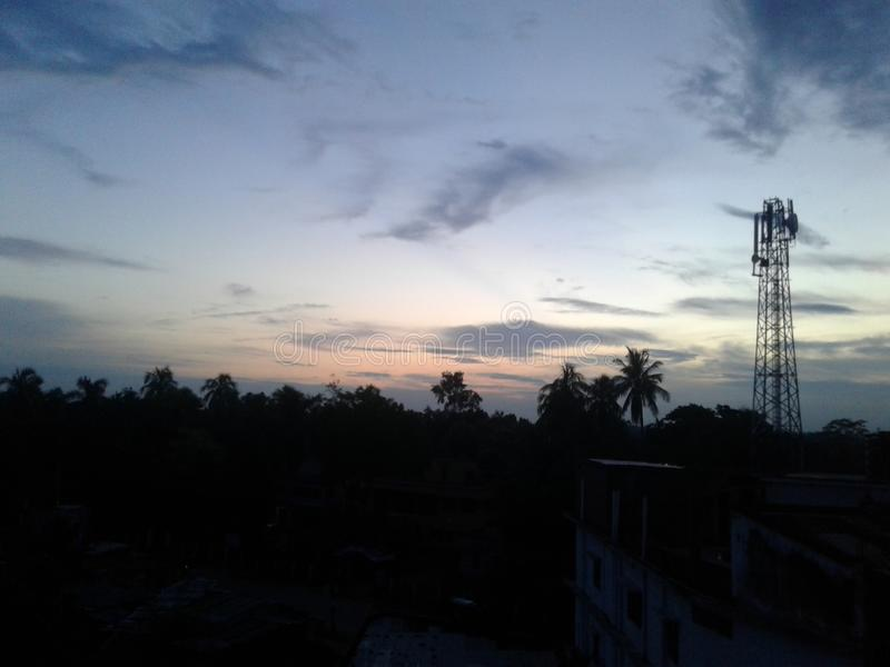 A Sweet Sun set in Chuadanga royalty free stock images