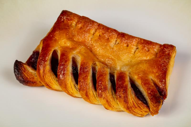 Sweet tasty pastry. With shugar royalty free stock photos