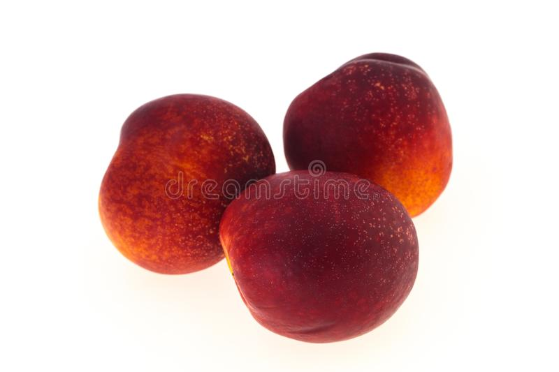 Sweet tasty ripe few nectarines. Fruit stock photography