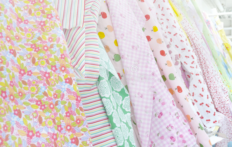Sweet textile colours on display royalty free stock images
