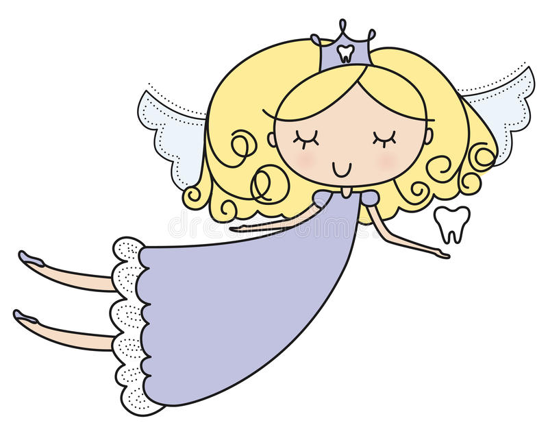 Sweet Tooth Fairy Illustration stock illustration