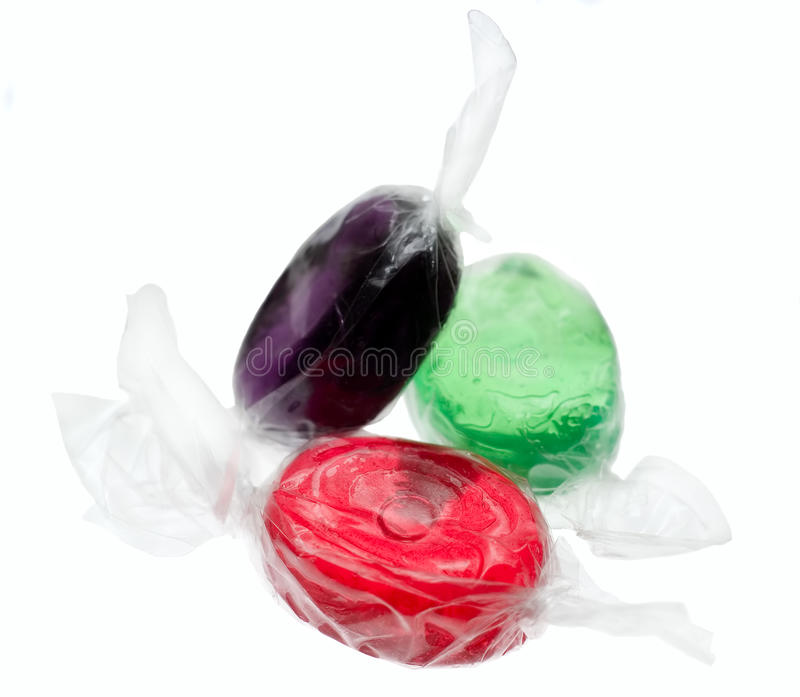 Sweet in transparent package royalty free stock photo