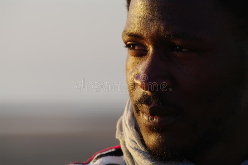Sweet tuareg portrait royalty free stock photos