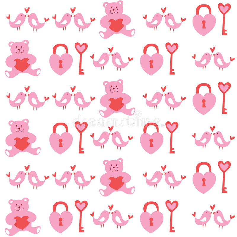 Sweet valentine seamless pattern background royalty free illustration