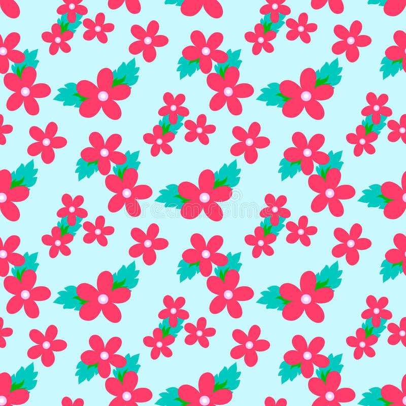Sweet vector pattern with small flower. Small cute white flowers on a grey background stock illustration