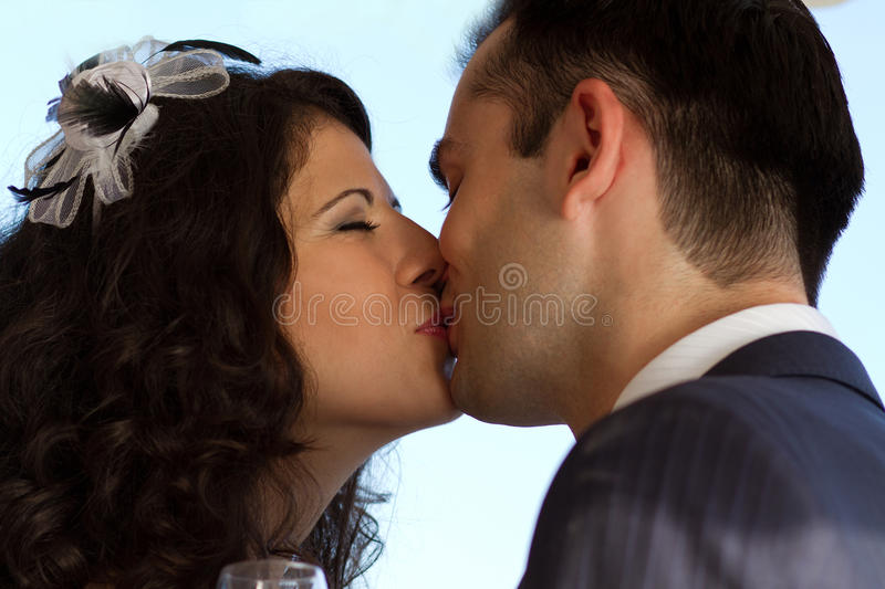Download Sweet wedding kiss stock image. Image of young, love - 27319929