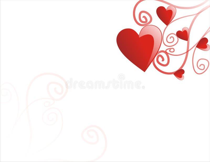 Sweet white valentine card stock image