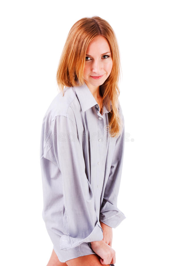 Free Sweet Young Girl In Shirt Royalty Free Stock Photos - 12820788