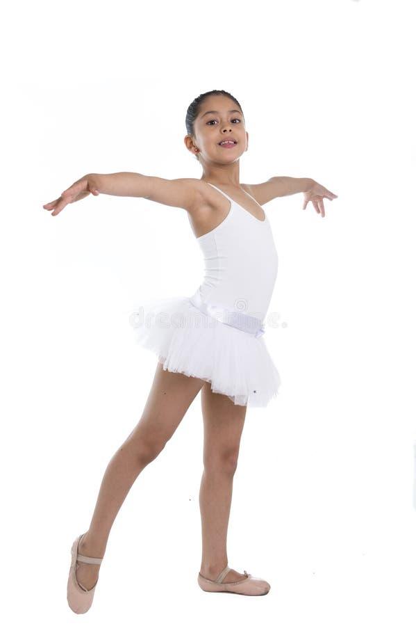 Sweet Young Little Cute Ballet Dancer Girl Dancing On ...