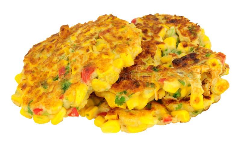 Sweetcorn I chili pieprzu Fritters fotografia stock