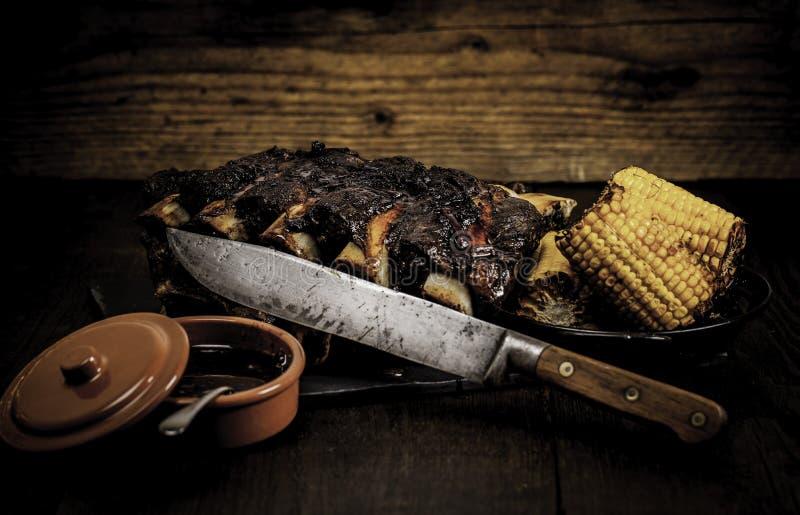 Sweetcorn na BBQ. fotografia stock