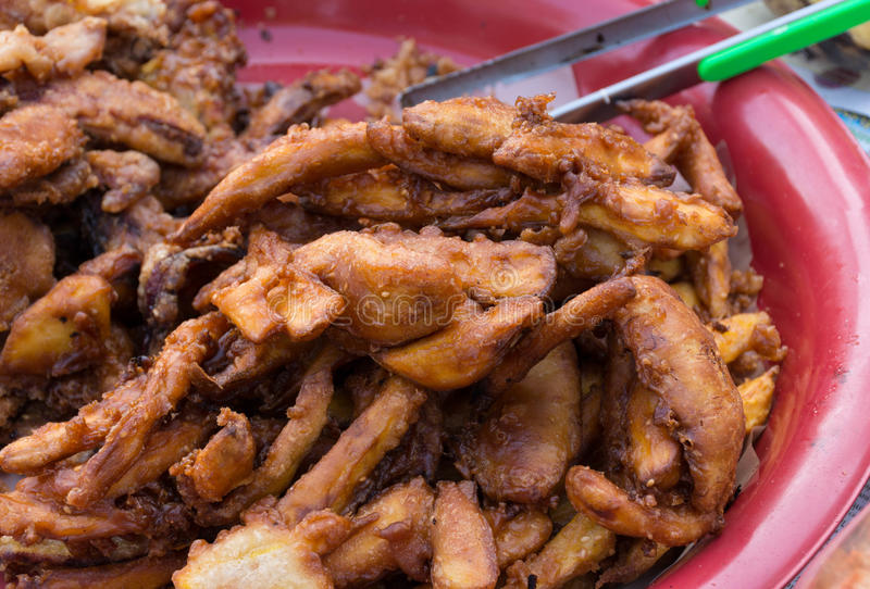 Sweetened fritou fritos da banana fotografia de stock