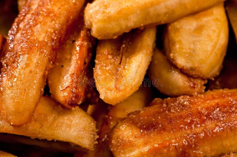 Sweetened fritou fritos da banana (Saba) fotografia de stock